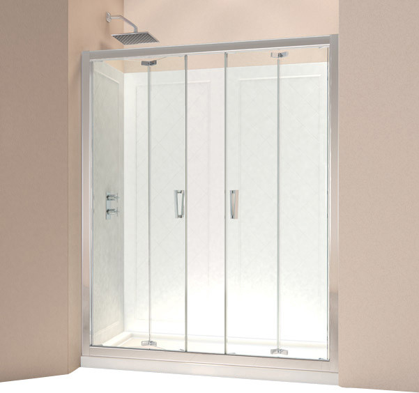 Dreamline Butterfly Frameless Bi Fold Shower Door And