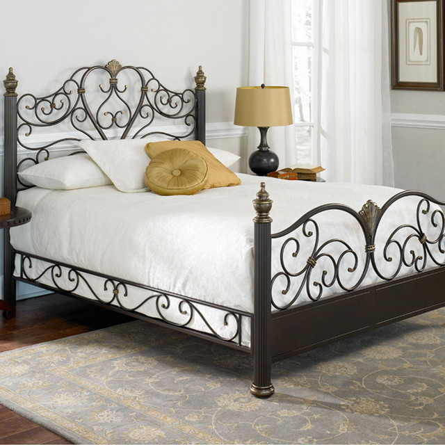 Elegance Metal Bed Tropical Beds Atlanta By Iron
