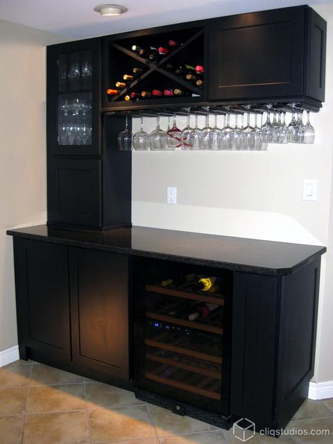 Black Kitchen Cabinets contemporary
