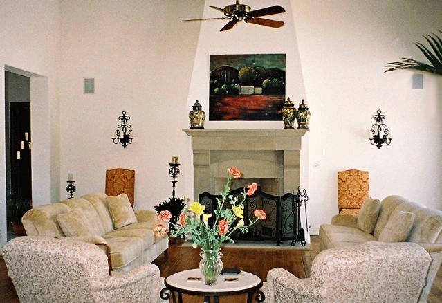 Wine Country Estate mediterranean-living-room