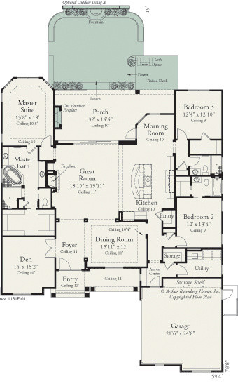Carrington 1151 traditional floor plan tampa by for Carrington plan
