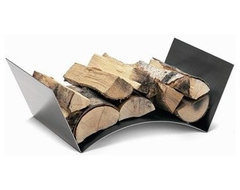 Conmoto Wood Bridge Log Holder modern accessories and decor