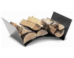 Conmoto Wood Bridge Log Holder modern-home-decor