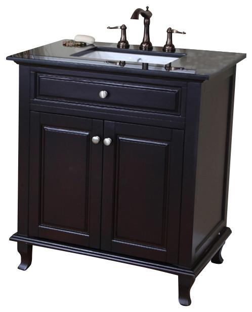32 Inch Single Sink Vanity Dark Mahogany Modern Bathroom Vanities And Sin