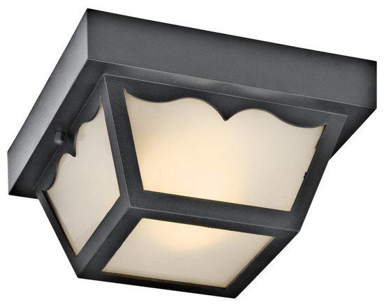 Kichler Lighting - Kichler 11027WH White 2 Light Flushmount Ceiling Fixture - Lamping Technologies: