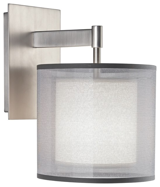 Contemporary Plug In Wall Sconces : Contemporary Robert Abbey Saturnia Steel Plug-In Wall Sconce - Contemporary - Wall Lighting