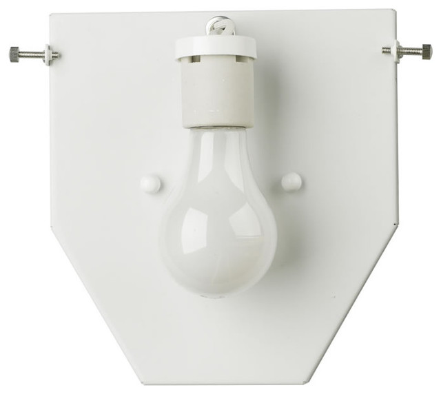 Forecast Lighting Madison 1 Light Wall Sconce in White contemporary-wall-sconces