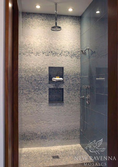 Mist Stone Mosaic Contemporary Tile Other Metro By