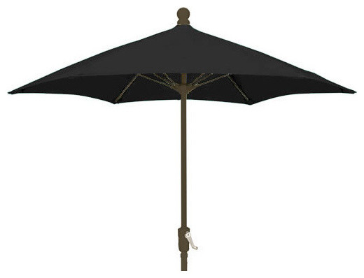 7 5 foot hexagonal black outdoor patio umbrella with ch