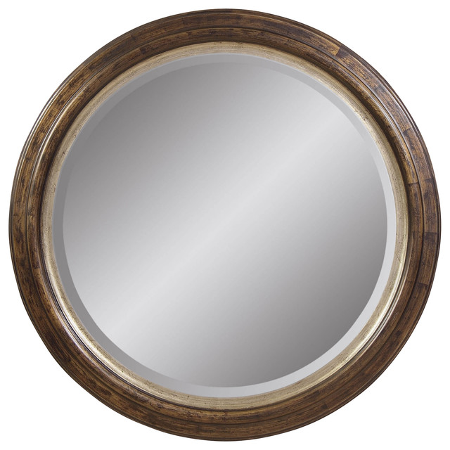 Antique Bronze Round Wall Mirror - Contemporary - Mirrors - by ...