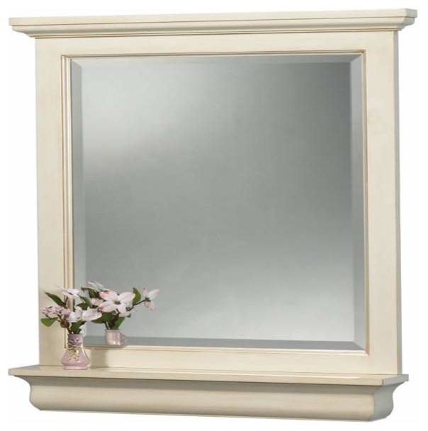 foremost cottage 24 inch mirror premium antique white