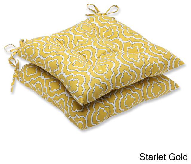 Pillow Perfect 'Starlet' Outdoor Wrought Iron Seat Cushion (Set of 2) contemporary-outdoor-cushions-and-pillows
