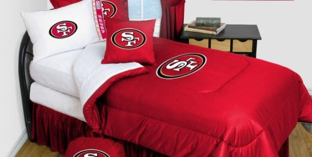 San Francisco 49ers Bedding Nfl Comforter And Sheet Set Combo Queen Bedding By