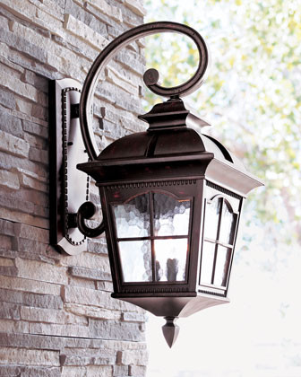 three light wall lantern traditional outdoor lighting by horchow