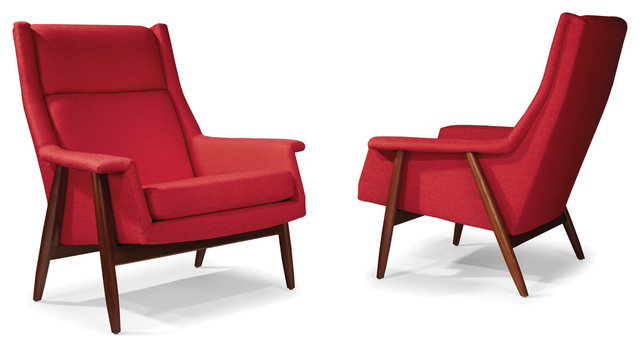 Laid Back Lounge Chairs by Milo Baughman from Thayer Coggin midcentury