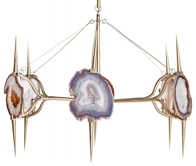 Eclipse Agate Chandelier eclectic-chandeliers