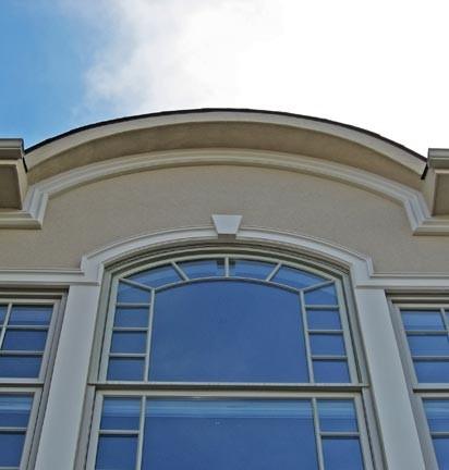 Foam Window Trim With Cornice Detail