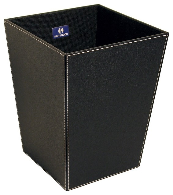 Ecopelle 2603BK Waste Basket, Black - Contemporary ...