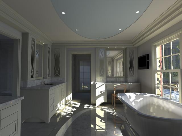 Computer designed luxury master bath and walk in closet for Master bathroom with walk in closet