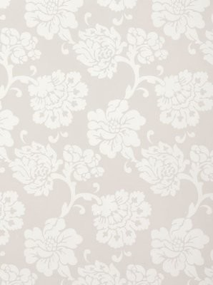 Albero Floreale, Grey contemporary-wallpaper