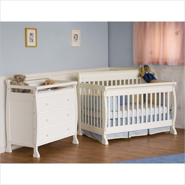 DaVinci Kalani 4-in-1 Convertible Wood Crib Nursery Set W