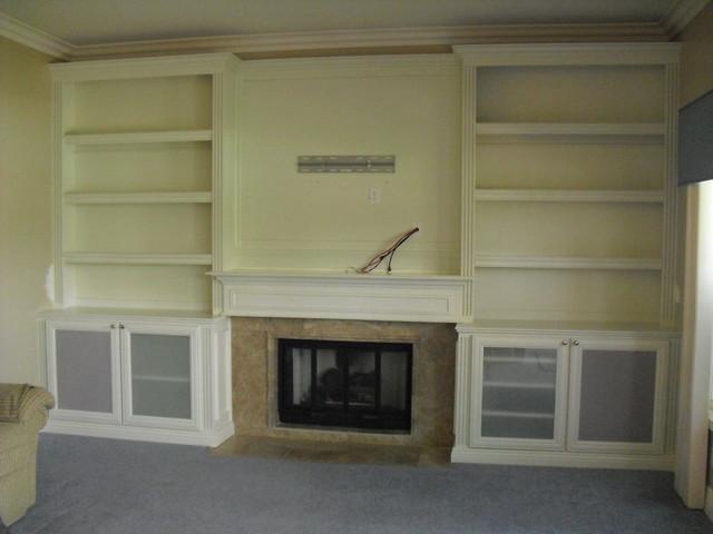 Mantel Surround traditional-living-room