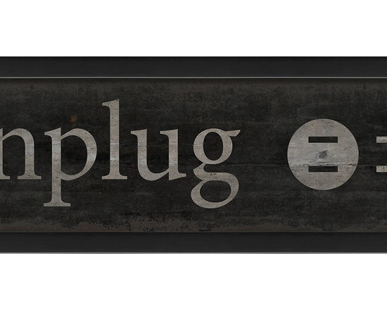 The Artwork Factory - 'Unplug' Print - We all need a gentle reminder now and then to breathe deeply and relax. Or maybe you have a friend who's a tad high maintenance. Perhaps you need two.