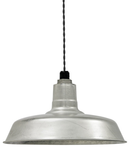 Industrial Twist Cord Warehouse Pendant traditional-pendant-lighting