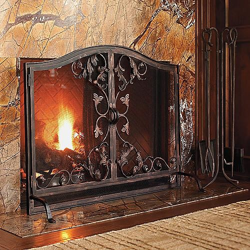 Toscana Fireplace Screen Oversized Traditional Screens And Room Dividers By Frontgate
