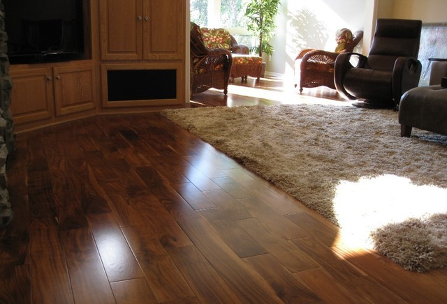 Solid Acacia Smooth Plank Prefinished Traditional