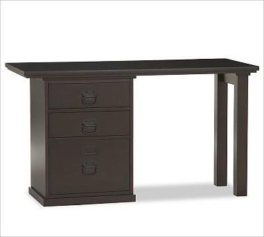 Bedford Small Desk Set, 1 Desktop & 1 3-Drawer File Cabinet, Espresso stain - Traditional ...