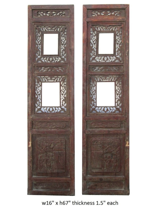 Pair Vintage Chinese Double Window Wood Panel Decor - basket  xblue & white  xbox  xbucket  xcarpet  xCeramic Figure  xchest  xChinese Accent  xChinese door  xChinese porcelain wall plaque  xChinese wood art  xdecorative art  xfengshui  xgate  xjar  xlamp  xliuli glass  xoriental decor  xoriental wall decor  xporcelain jar  xpot  xpottery art  xroom divider  xrug  xscreen  xsilver figure  xtrunk  xvase  xwall panel  xwood carving  xwood plaque  x