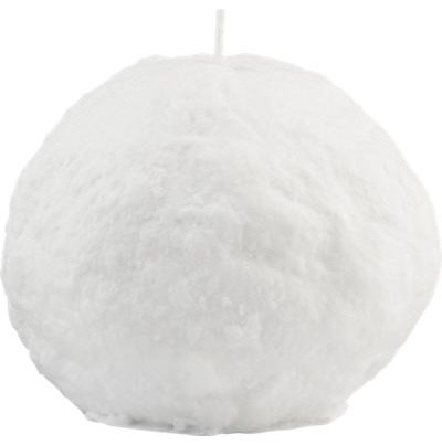 Large Snowball Candle eclectic holiday decorations