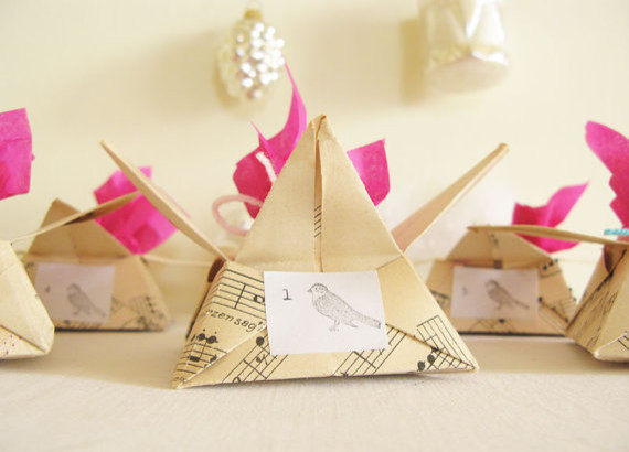 Advent Calendar Origami Star Paper Boxes by My Cherry Tree Vintage modern-christmas-decorations