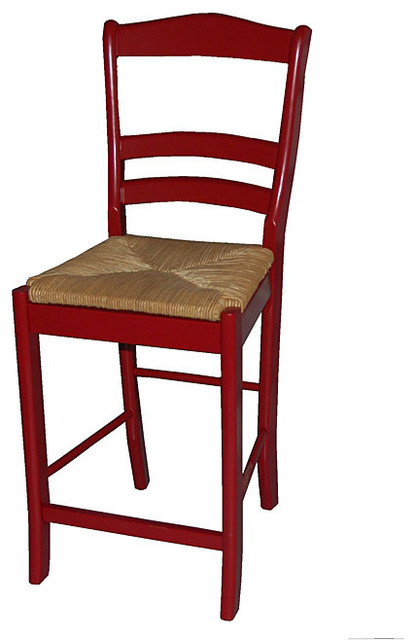 Parker Red 24 Inch Stool Contemporary Bar Stools And