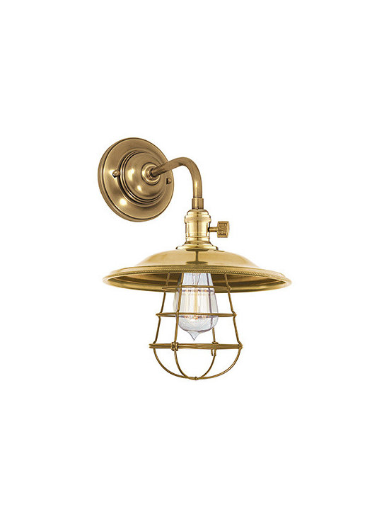 Heirloom Cage Sconce (Pan head aged brass) -