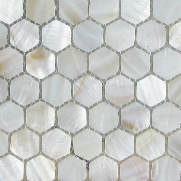 american hexagon mother of pearl tiles white mosaic