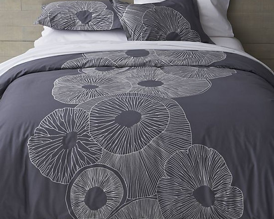 Marimekko Valmuska Slate Bed Linens in All Decorative Bedding | Crate and Barrel -