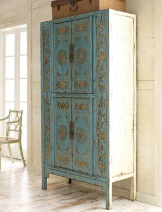 Aqua Double Lotus Cabinet traditional-dressers