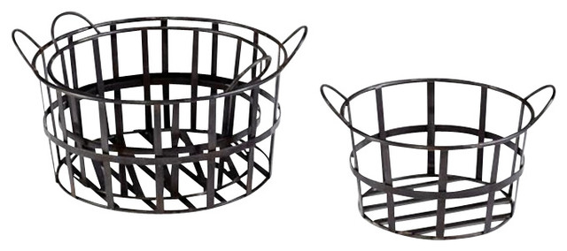 Barn Baskets, Set of 3 traditional-baskets