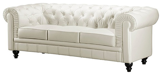 Chestfield White Leather Sofa modern-sofas