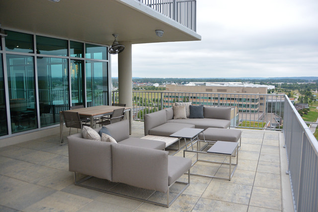 Condo on the riverfront contemporary patio furniture for Outdoor furniture omaha