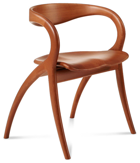 Star Dining Chair Light Cherry Modern Dining Chairs By Inmod