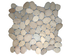 Sliced Java Tan Pebble Tile modern-tile