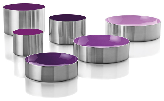 Stelton Dot Bowl/Container Set - Purple - modern - food containers ...