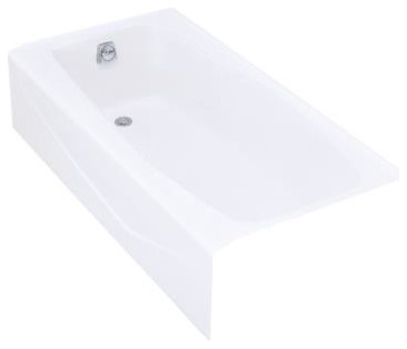 KOHLER K-715-0 Villager Alcove Bath Tub with Integral Apron and Left-Hand Drain contemporary-bathtubs