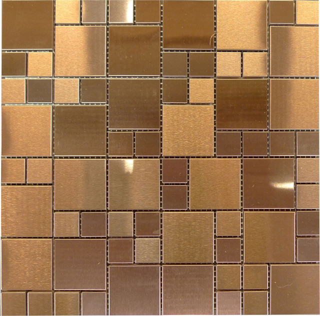 W36 Modular Copper Stainless Steel Glass Mosaic