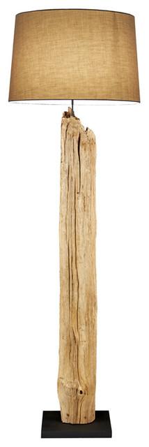 Driftwood Floor Lamp Beach Style Floor Lamps By
