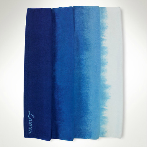 Horizontal Ombr Beach Towel contemporary towels