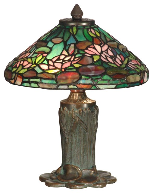 Dale Tiffany TT10334 Floral Leaf Tiffany Table Lamp tropical-table-lamps